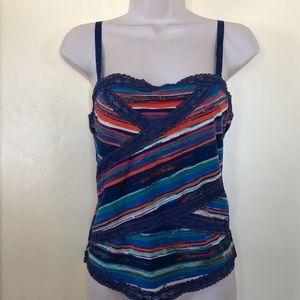 Free People stripe wrap cotton cami/NWT/M